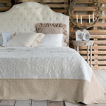 boutis couvre lit romantique Couvre Lit Boutis Jeté de lit Shabby Chic et Romantique   Flocons  boutis couvre lit romantique