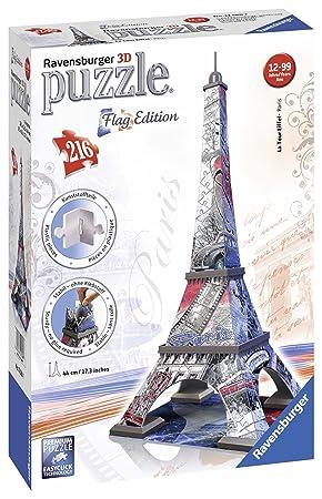Puzzle Eiffel Flag 216 12580 Pièces Ravensburger Tour 3d KJc5luFT13