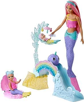 Oferta amazon: Barbie Dreamtopia Muñeca Sirena con bebés y accesorios (Mattel FXT25)