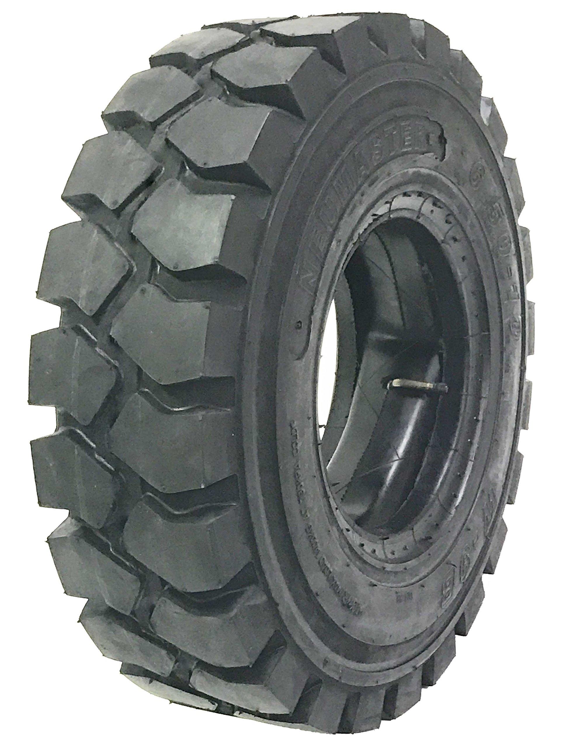 One New ZEEMAX HD 6.00-9 /10TT Forklift Tire w/ Tube & Flap & Rim Guard by NEUMASTER