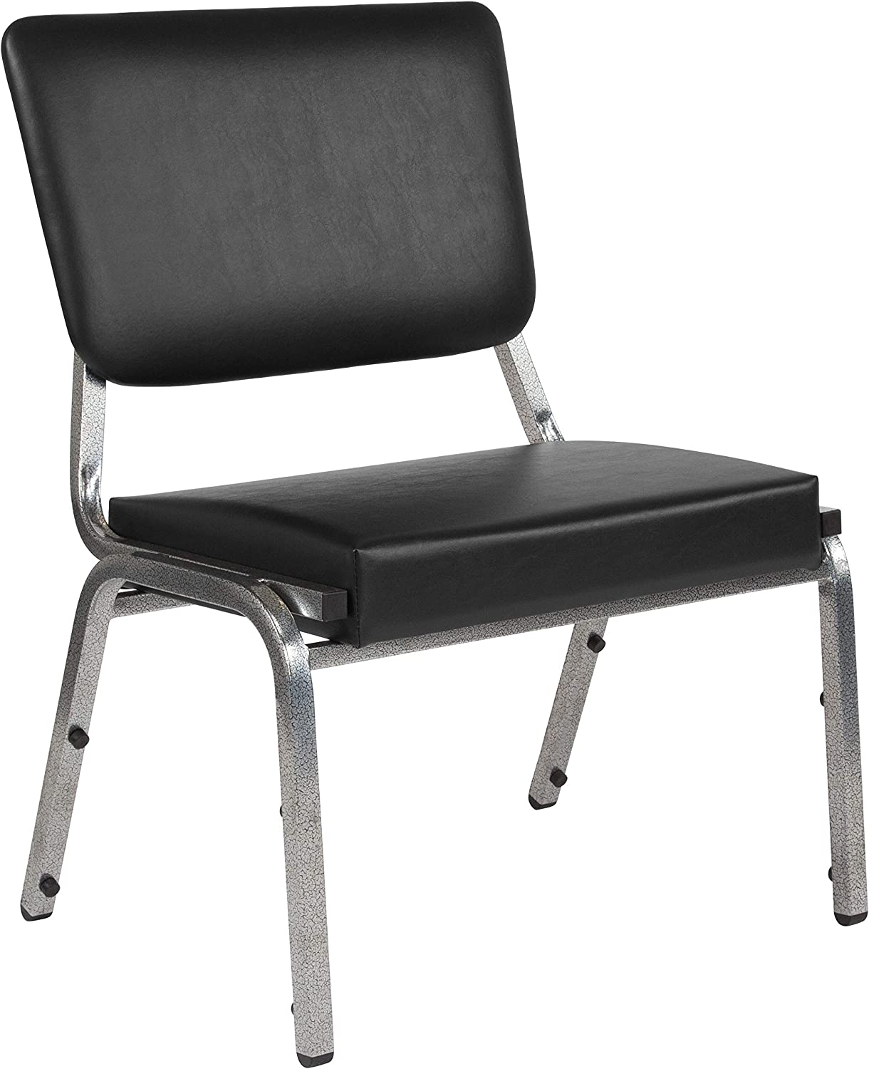 Flash Furniture HERCULES Series 1500 lb. Rated Black Antimicrobial Vinyl Bariatric Medical Reception Chair with 3 4 Panel Back
