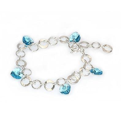 bracelet argent 5 coeurs