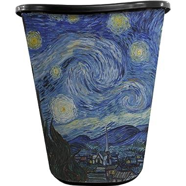 RNK Shops The Starry Night (Van Gogh 1889) Waste Basket - Single Sided (Black)