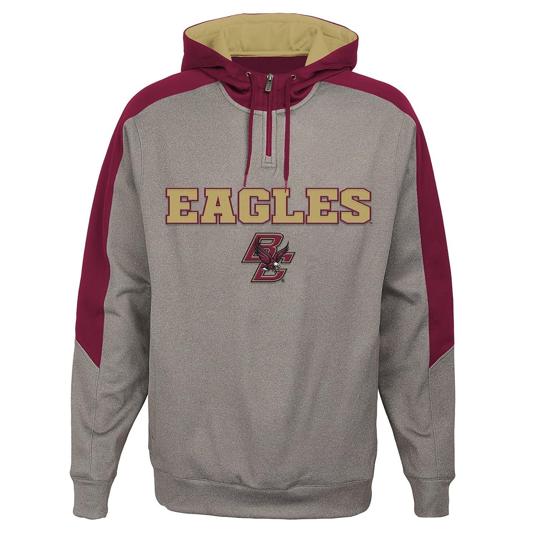 Light Charcoal Medium NCAA Boston College Eagles Mens Outerstuff Illustrious 1//4 Zip Hoodie Fleece