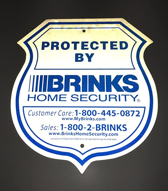 com authentic reflective home security signs and refective stickers garden u outdoor with brinks systems