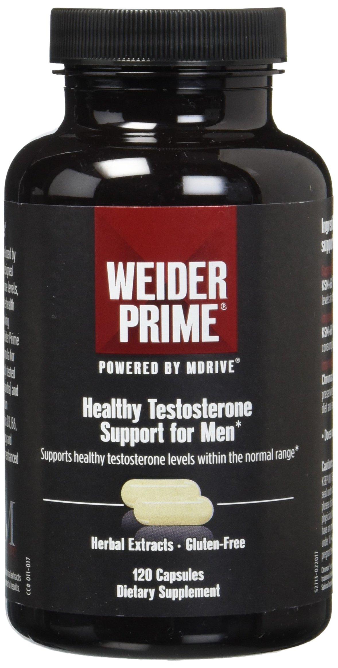 Weider Prime Low T Support - KSM 66 Ashwagandha - Improve Energy- Improve Lean Body Mass- Improve cardiorespiratory endurance - 2 Month Supply