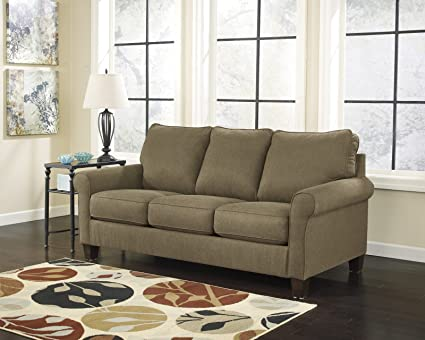 Ashley Furniture Signature Design   Zeth Sleeper Sofa   Queen Size   Easy  Lift Mechanism