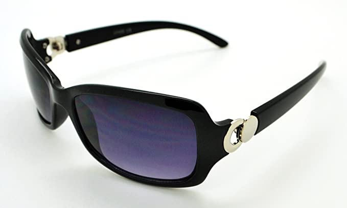 VOX trendige Classic High Qualität Damen Hot Fashion Sonnenbrille w/gratis Mikrofaser Tasche, VOX-63050-FBLKSLV-LSMK