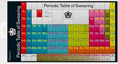 Periodic table of swearing magnets amazon kitchen home periodic table of swearing magnets urtaz Gallery