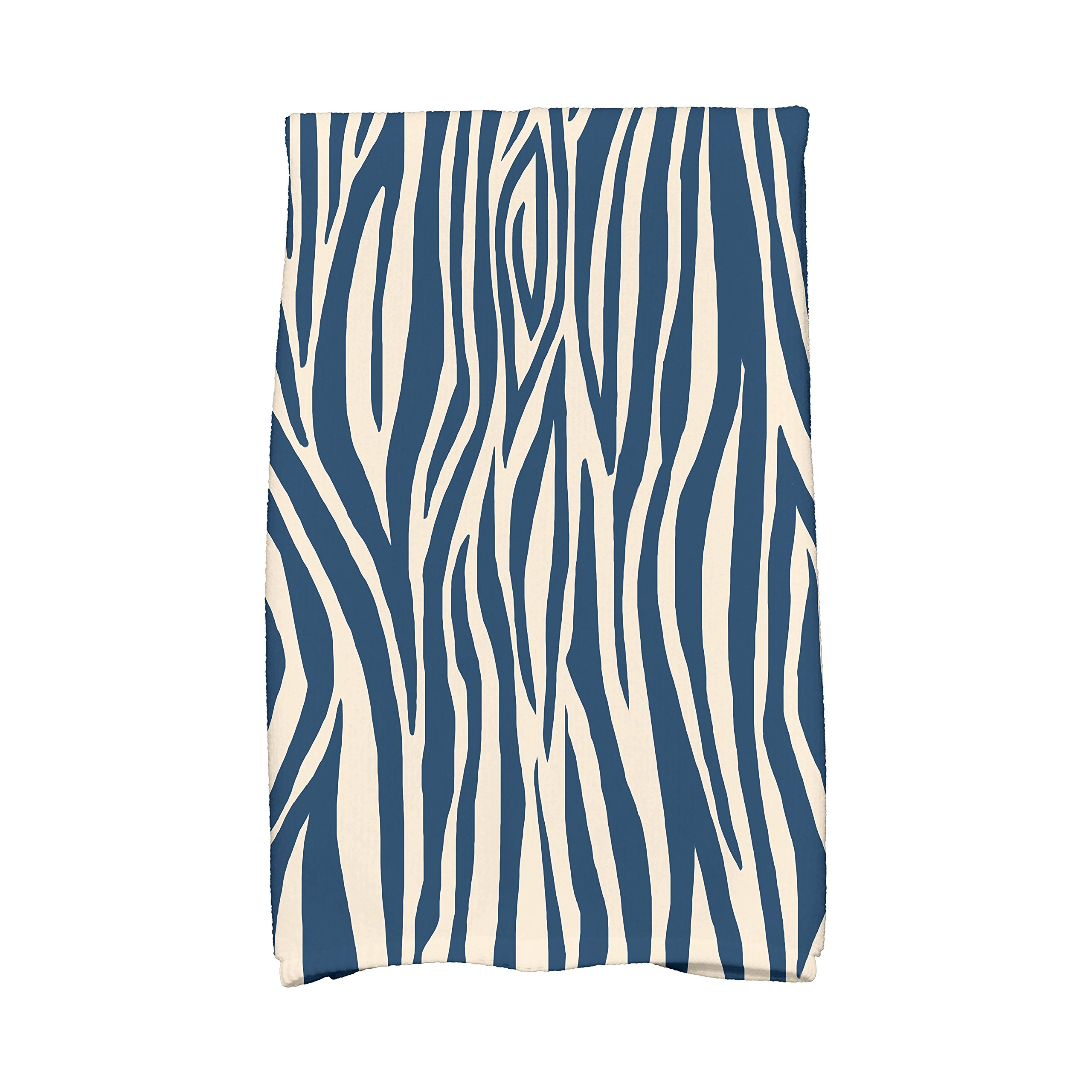 E by Design Flora and Fauna Wood Stripe Kitchen Towel