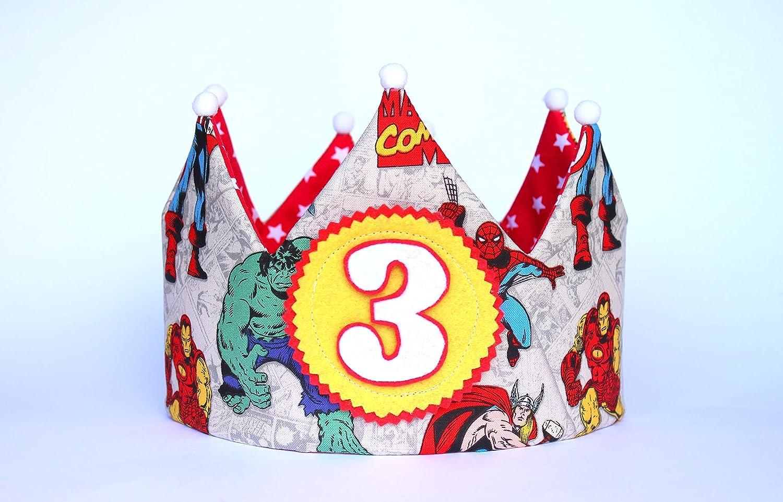 Pittitus corona de cumplea/ños superheroes para fiestas infantiles