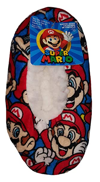 Super Mario Bros Slipper Socks - M/L