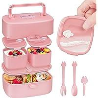 Fiambrera NiñOs 100% Prueba de Fugas, Bento Box NiñOs Fabricada con Paja de Trigo Reciclable, BPA-Free. Lunch Box con…