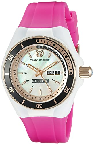 Technomarine Women s TM-115120 Cruise Sport Analog Display Swiss Quartz Pink Watch