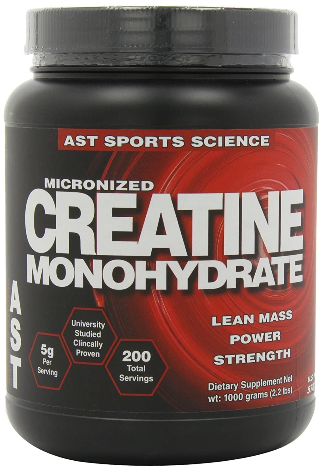AST Sports Science Micronized Creatine Monohydrate, 2.2 lbs 1000 g