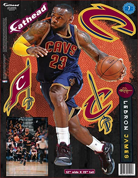 e7af6f6d2d91 Image Unavailable. Image not available for. Color  Fathead NBA Cleveland  Cavaliers Lebron James 12x17