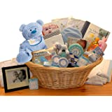 Just for The New Baby Boy - Deluxe Welcome New Baby Boy Gift Basket