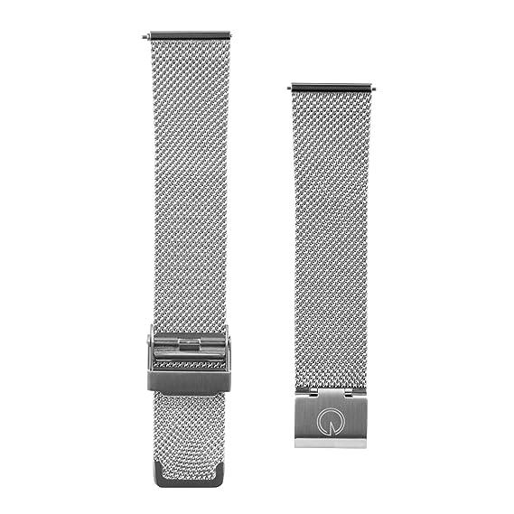 Los hombres de la malla de acero intercambiables 20 mm Correa para reloj - Compatible con Daniel Wellington, MVMT relojes: Amazon.es: Relojes