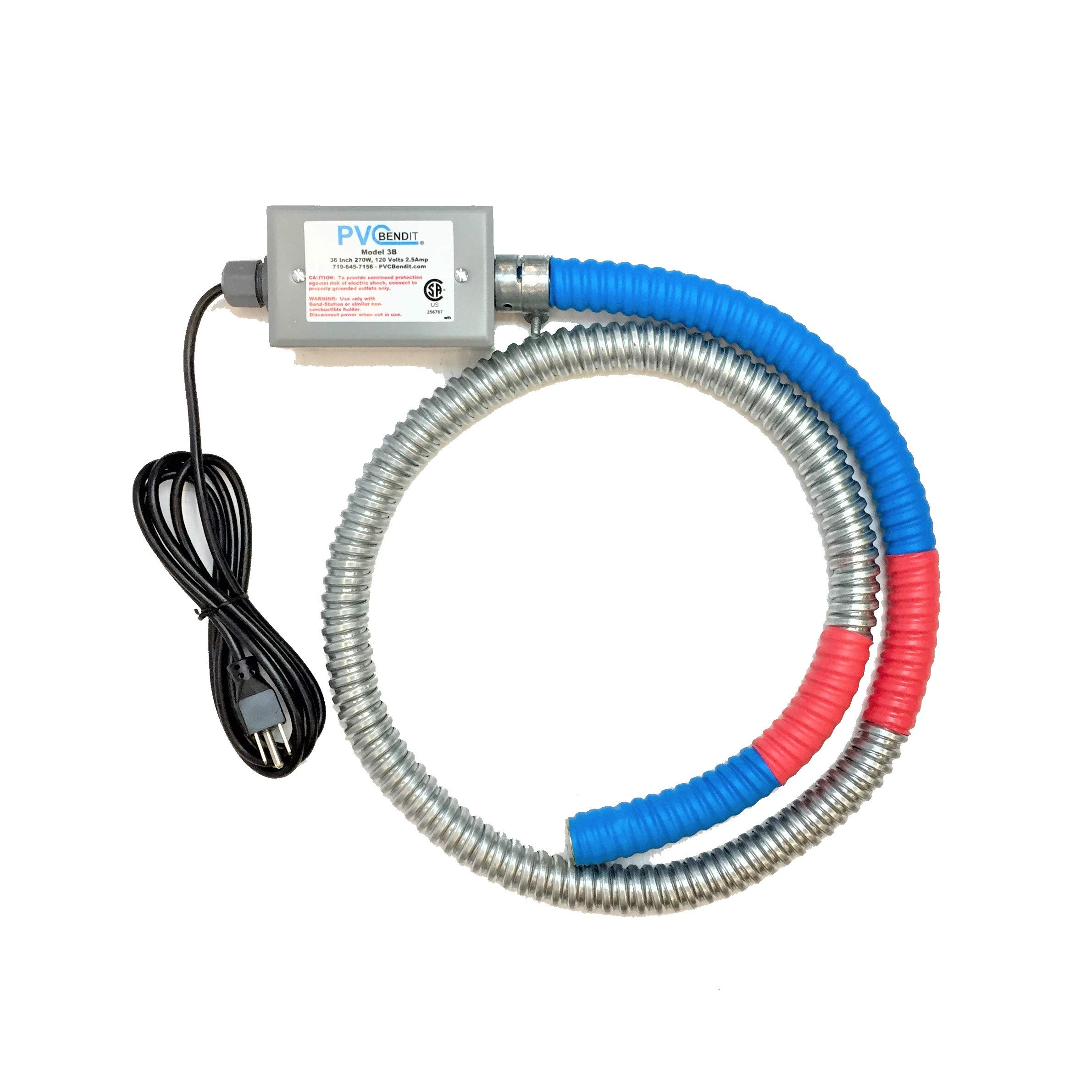 PVC Pipe Heater Bender - PVC Bendit Tool B3 for PVC Pipe Schedule 40 - 80 Sizes ID 1 1/4'' to 6'' X 3' ft length by PVC Bendit