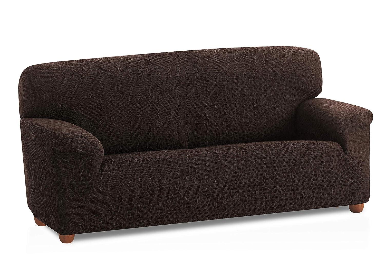 Funda de sofá elástica Aitana - Color Marrón - Tamaño 2 plazas (de 110 a 150 cm)