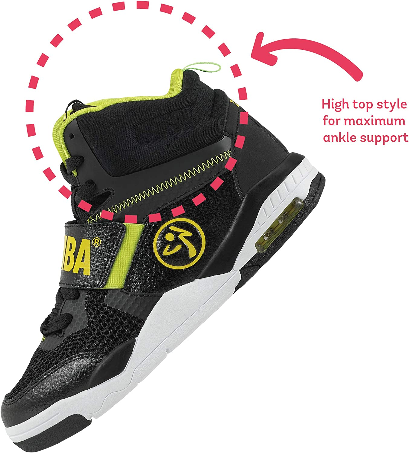 Zumba Air Classic Remix High Top Fitness Workout Dance Shoes for Women Black 1 IJUudw
