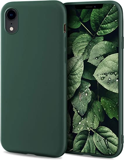 Moozy Minimalist Series Cover In Silicone Per Iphone Xr Verde Notte Amazon It Elettronica