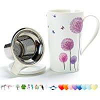 TEANAGOO FA-M01 Porcelain Tea-Mug with Infuser and Lid