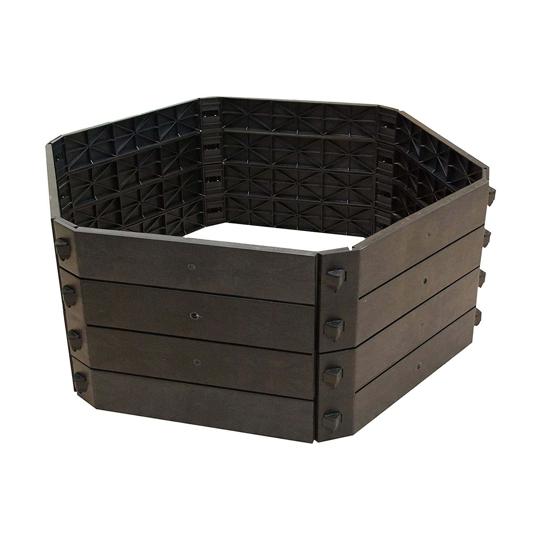 Khw 55009 - Compostador rápido compostador 550 l, variante básica, negro: Amazon.es: Jardín