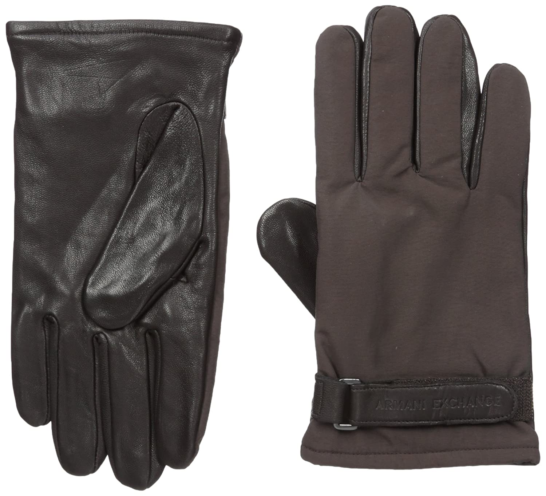 Armani Exchange Men's Goat Leather Gloves 6YZ403ZNL7Z