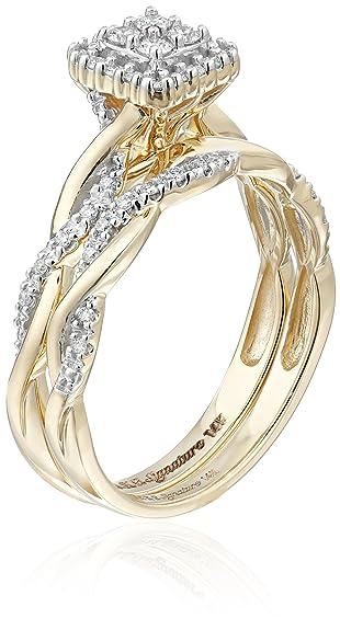 f8ae394e7769 Keepsake Signature - Anillo de compromiso de oro blanco de 14 quilates con  diamante (1 3 quilates