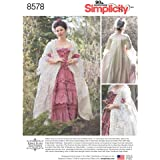 Simplicity Pattern 8578 D5 Misses' 18th Century Gown by American Duchess, Size 4-12