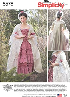 product image for Simplicity US8578D5 Women's 18th Century Gown Historical Costume Sewing Pattern by American Duchess, Sizes 4-12