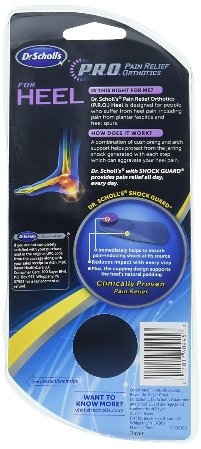 Amazon.com  Dr. Scholl s Heel Pain Relief Orthotics Women s 5-12 1 Pair   Health   Personal Care d722d54ea