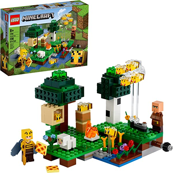 LEGO Minecraft The Bee Farm building set for kids in package