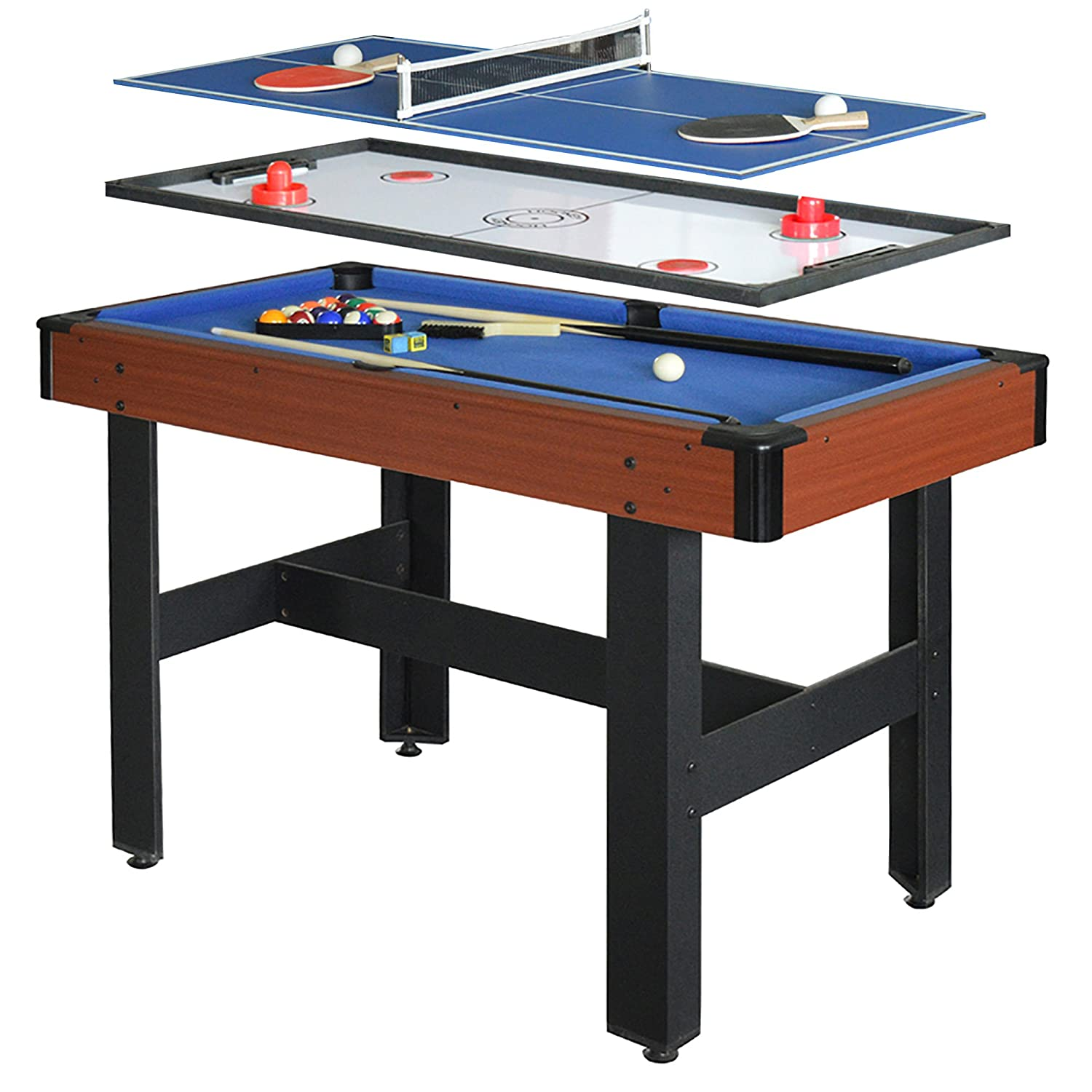 Amazon.com : Hathaway Triad 3 In 1 48 In Multi Game Table With Pool, Glide  Hockey, And Table Tennis For Family Game Rooms : Sports U0026 Outdoors