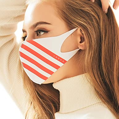 White Red Face Layered Looka Stripes Sport Reusable Fashion Washable Air X Double Mask Protective And