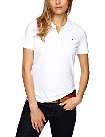 Tommy Hilfiger New Str Pq Polo Reg SS, Blanco (Classic White), XL ...