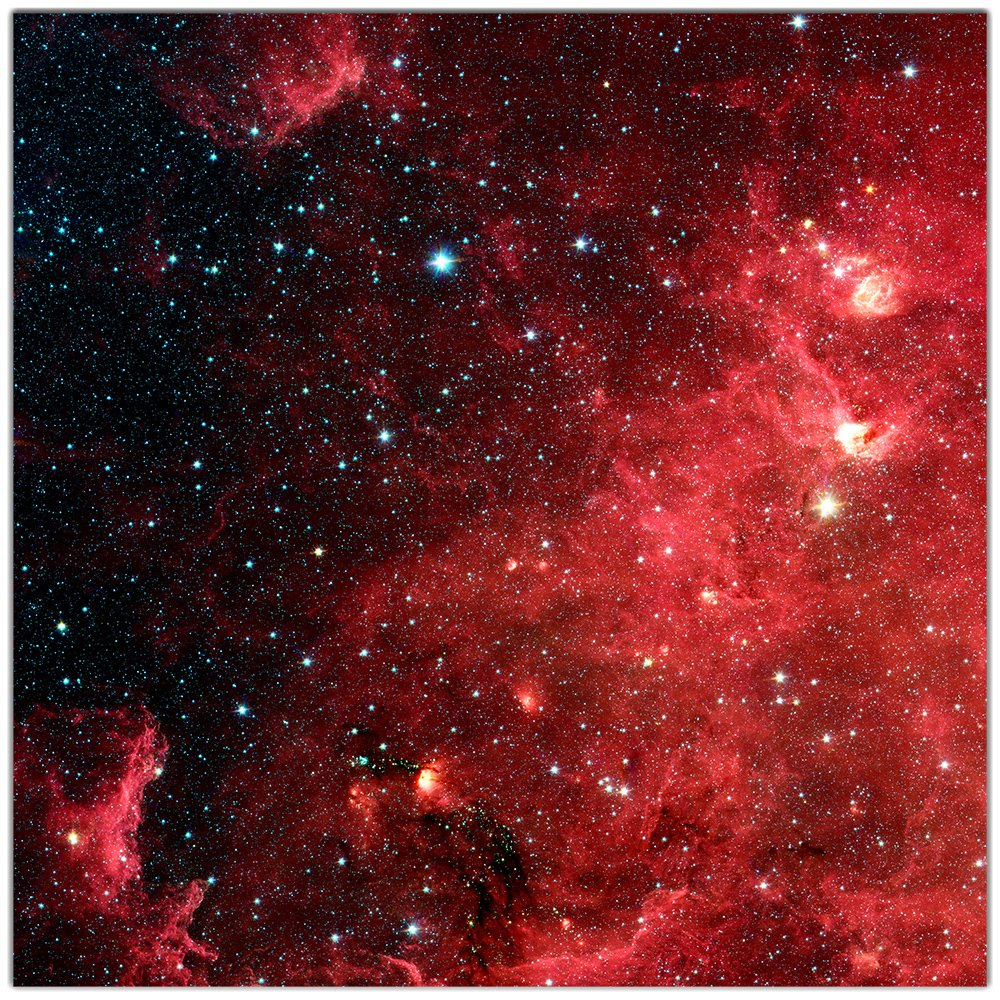 Red Starfield Wargaming Play Mat – 36x36 Inch Table Top Roleplaying and Miniature Battle Game Mat Great for Warhammer 40k Star Wars Minis Warmachine Polyester with Anti-Slip Rubber Backing