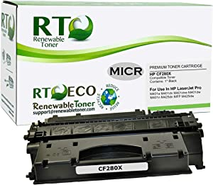 Renewable Toner Compatible MICR Toner Cartridge High Yield Replacement for HP CF280X 80X for HP LaserJet Pro 400 M401 M425