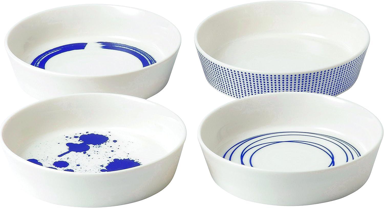 Set of 6 Royal Doulton Pacific Tapas Plates 6.3-Inch Blue