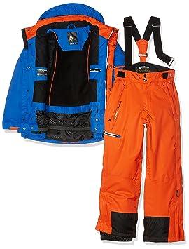 ae83e2c97ab5d Peak Mountain Ecosmic Ensemble de Ski Garçon, Bleu/Orange, FR (Taille  Fabricant