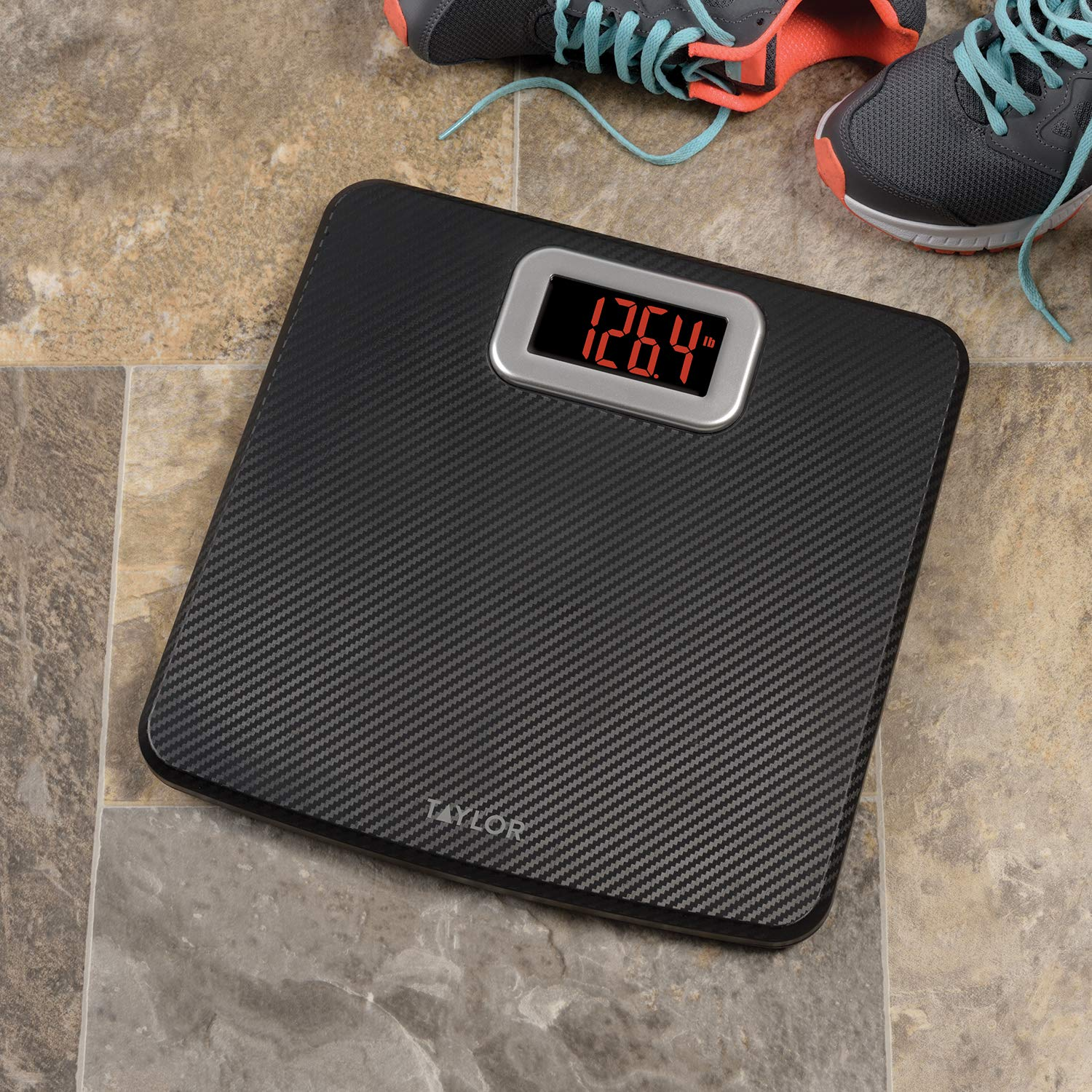 Taylor Precision Products Taylor Digital Bathroom Scale with Carbon Fiber Finish