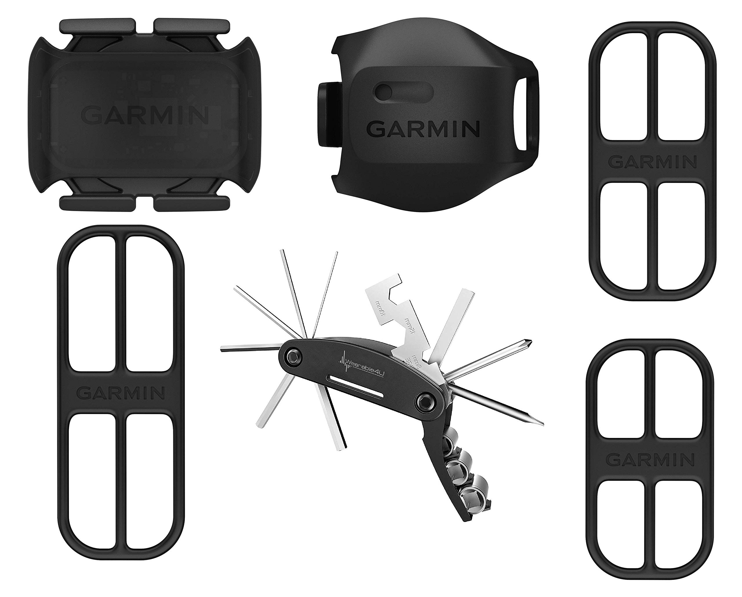 Wearable4u Garmin Bike Speed Sensor 2 and Cadence Sensor 2 Include Multi Tool Bundle