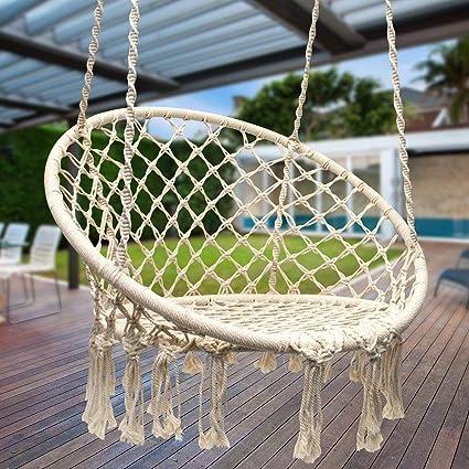Amazon Com Appreciis Hammock Chair Macrame Swing Round Cotton Rope