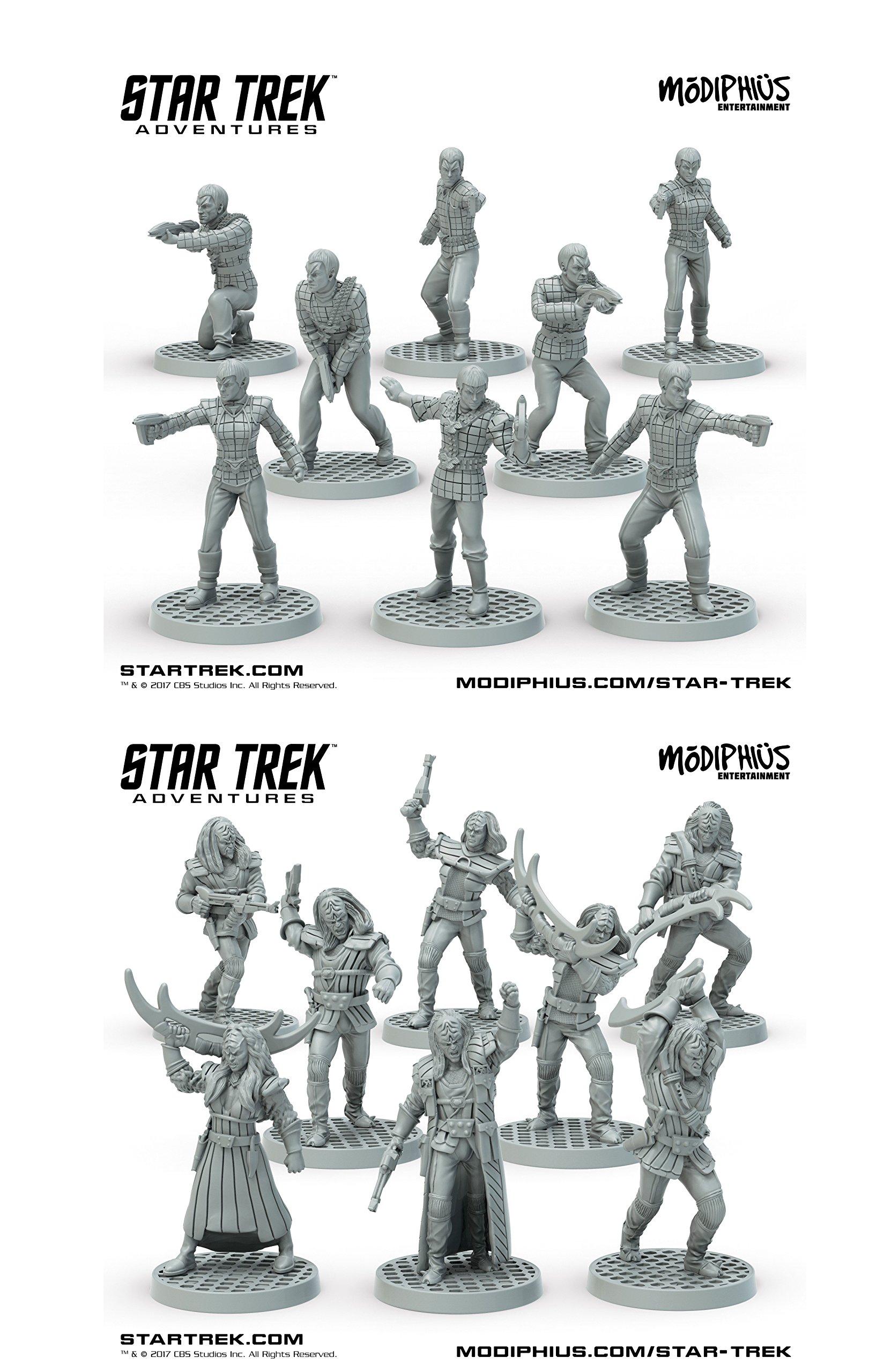 Star Trek Adventures 32mm Miniatures Bundle: Klingon Warband & Romulan Strike Team
