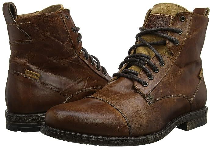 6d091726 Levi's Emerson Lace Up Boots - Medium Brown UK 75: Amazon.ca: Shoes &  Handbags