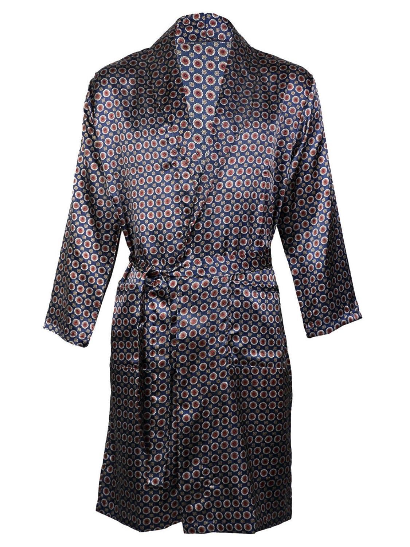 Herren Satin Bademantel Bademantel Kimono, Satin Pyjama Set Nachthemd Harvey James