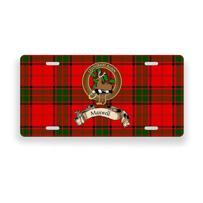 Maxwell Scottish Clan Tartan Novelty Auto Plate