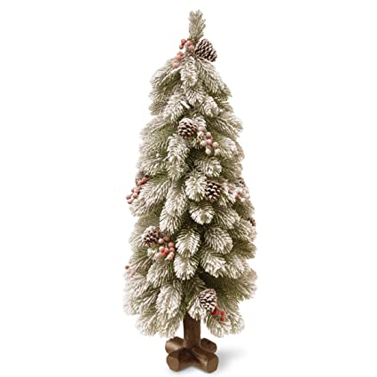 National Tree 30 Inch Feel Real Snowy Bayberry Spruce Tree with Berries and  Cones in Cross - Amazon.com: National Tree 30 Inch Feel Real Snowy Bayberry Spruce
