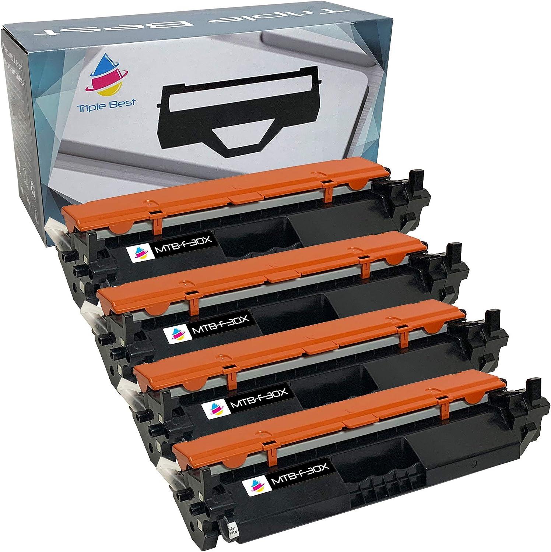 Triple Best Remanufactured Toner Cartridge Replacement for HP 30X High Yield Black, HP CF230X Toner Cartridge (4 Pack)